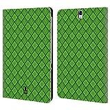 Head Case Designs Vert Noël Flocons De Neige Étui Coque De Livre En Cuir Pour Samsung Galaxy Tab S3 9.7