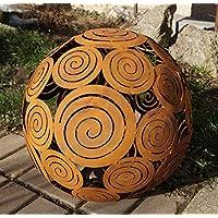 ruggine sfera spirale per luce decorazione giardino D40cm