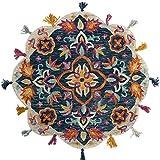 Wondrushy Indischer Reiner Wollteppich Ethnischer handgewebter Spitzenteppich (Design : B)