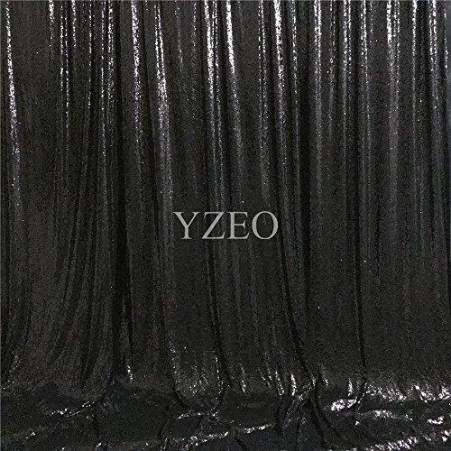 YZEO 4m x 3m, silberfarben mit Foto-Hintergrund, Textil, Schwarz, 6ftx9ft