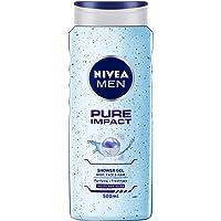 NIVEA MEN Shower Gel, Pure Impact Body Wash, Men, 500ml