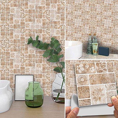 oderne selbstklebende Blumen-Quadrat-Wand-Fliesen-Aufkleber DIY Hauptdekoration ()