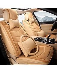AMYMGLL Autozubehör Hochwertige Kissenbezug Standard Edition (9sets) und Deluxe Edition (14sets) Auto-Universal Flax Four Seasons 3-Farben-Wahlen