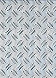 GAH-Alberts 466695 Strukturblech, Riffel-Prägung - Aluminium, natur, 120 x 1000 x 1,5 mm