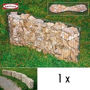 Bellissa 97040 Gabion léger de forme arrondie 100 x 20 x 40 cm