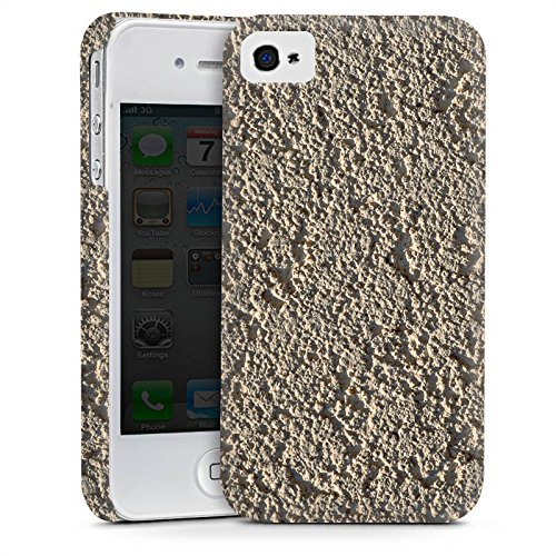 Apple iPhone 4 Housse Étui Silicone Coque Protection Béton Mur Motif structure Cas Premium mat