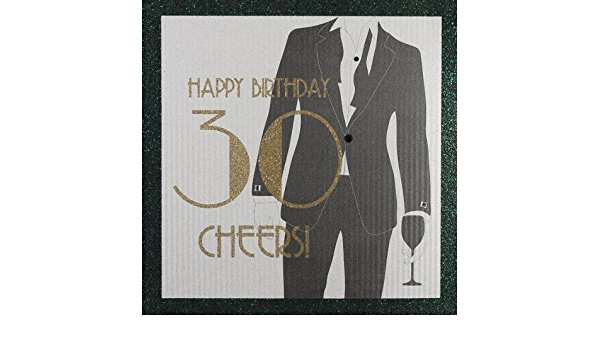 "Five DOllar Shake /"" Happy Birthday 30 Cheers /"" Handmade Male Birthday Card"