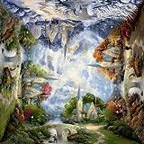 Schmidt Spiele 58770 - Quadratpuzzle, Thomas Kinkade, Die Kirche in den Bergen, 1000 Teile