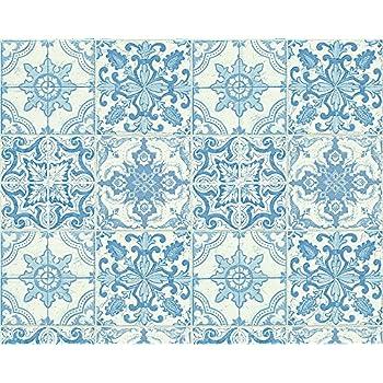 Kreidedruck eco texture vliestapete orientalischen motiv for Tapete orientalisch blau
