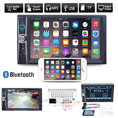 """Alcoa Prime 6.6"""" Double 2DIN Car Stereo Radio Bluetooth Touch Audio MP3 Player FM USB AUX TF"""