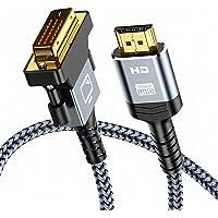 Cavo HDMI a DVI 1.8m, Snowkids Bi-Direzionale Cavo HDMI DVI maschio, Alta Velocità Cavo adattatore HDMI a DVI…