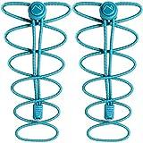 CampTeck Schnürsenkel mit Schnellverschluss - Elastische Schnürsenkel mit Schnellschnürsystem ideal für Kinder, ältere Menschen, Läufer, Sport, Sportschuhe, Marathon - Türkis (1 Paar)
