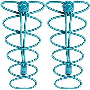 CampTeck Schnürsenkel mit Schnellverschluss – Elastische Schnürsenkel mit Schnellschnürsystem ideal für Kinder, ältere Menschen, Läufer, Sport, Sportschuhe, Marathon – Türkis (1 Paar)