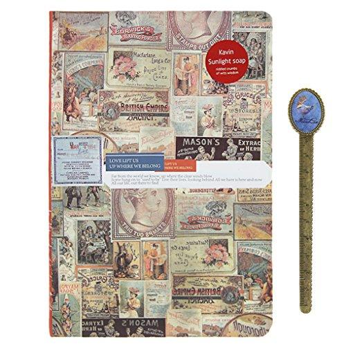 viaggio-diario-vintage-gazzetta-compatto-vacanza-planner-a5-con-bookmaker-ruler-misura-unica-b