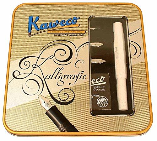 Kaweco Set Caligrafía blanca con lata