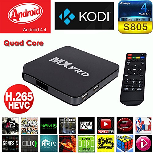 Quad Core Android TV Box MX MXpro Android 4 4 TV Box - Free Movies