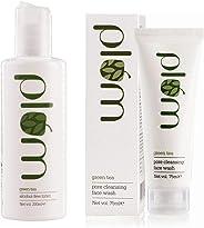 Plum Green Tea Alcohol Free Toner, 200ml and Plum Green Tea Pore Cleansing Face Wash, 75ml