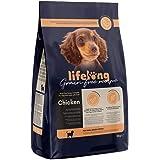 Marca Amazon - Lifelong Alimento seco completo con pollo fresco para cachorros de razas pequeñas, receta sin cereales - 3kg