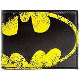 DC Batman Gelbe Fledermaus Licht Symbol Schwarz Portemonnaie Geldbörse