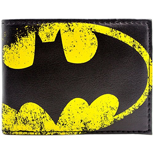 DC Batman Symbole de lumière jaune Noir Portefeuille