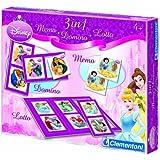 Clementoni- Kit 3 en 1 Memo-Domino-Lotto Princess
