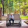 COSTWAY Schaukelstuhl Schwingstuhl Relaxstuhl Ruhesessel Schwingsessel Gartensessel von COSTWAY - Gartenmöbel von Du und Dein Garten