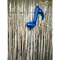 shinybeauty 3ftx8ft-foil flecos curtain-rainbow papel de aluminio cortina/telón de fondo, de la boda/cumpleaños/de la cena fiesta decoración, película, champán, 3FTx8FT