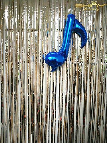 ShinyBeauty Foil Fringe Backdrop Curtain Champage