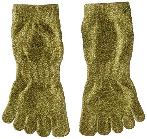 Toe Sox Zehensocken Sport perfdry Light Gewicht Knöchel Socken, Damen Herren, Brindle Olive, Large -