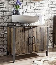 Main Möbel Waschbeckenunterschrank U0027Luganou0027 Altholz Massiv