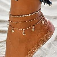 Zoestar Boho - Cavigliera a forma di stella dorata, gioiello per donne e ragazze