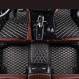Zmkar Auto Fußmatten Automatte für Porsche Panamera 2014-2016 Rutschfeste Wasserdicht Umweltfreundliche Materialien Fußmatten Maßgefertigt (schwarz mit beigen Nähten, Linkslenker)