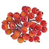 Vanker Weihnachten Faux Künstliche Berry Fruit Beeren Ast Realistische Fake Kranz Decor Orange/Rot