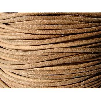 buy online 65acd af7f3 Lederband, Lederschnur, Lederriemen 5 m. Rund 2,0 mm. Natur