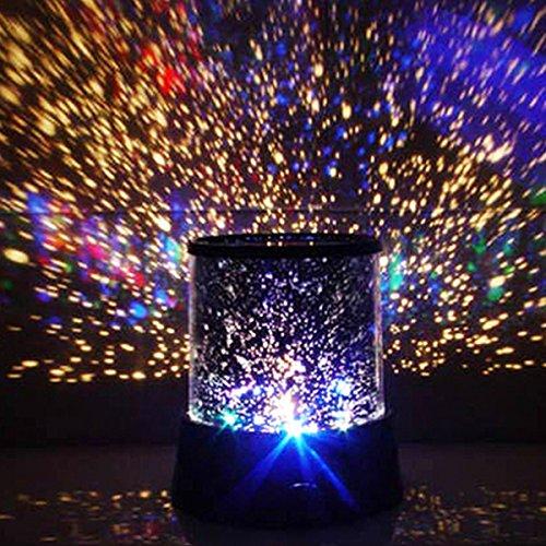 DXP WOW!! LED Sternenhimmel mit 3 Leuchtprogrammen Star Master Nachtlicht Sternen-Projektor Himmel Romantisch für Kinder & Dekoration SKY01