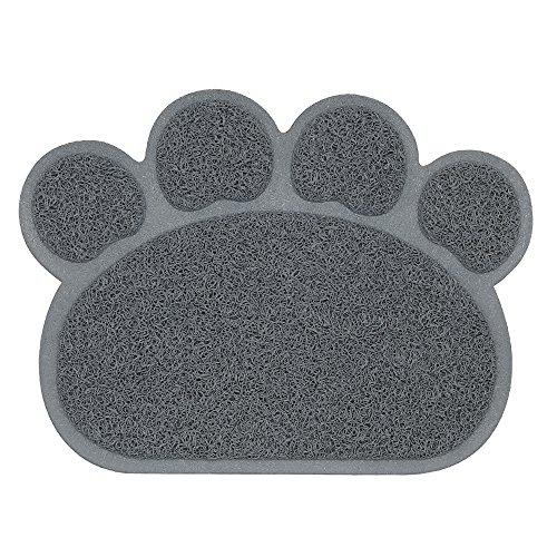 Haustier Katzenstreu Box Mat,Weili Wasserdichte Elastische PVC Paw Shaped Katzentoilette Vorleger Wurf Trapper Decke Mat Für Katzen Hund