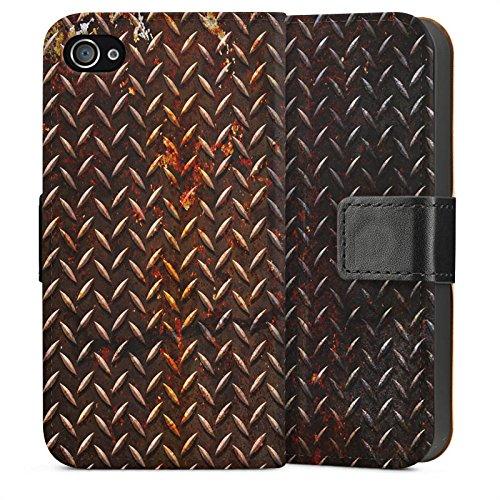 Apple iPhone 5s Housse étui coque protection Rouille Look Métal marron Sideflip Sac