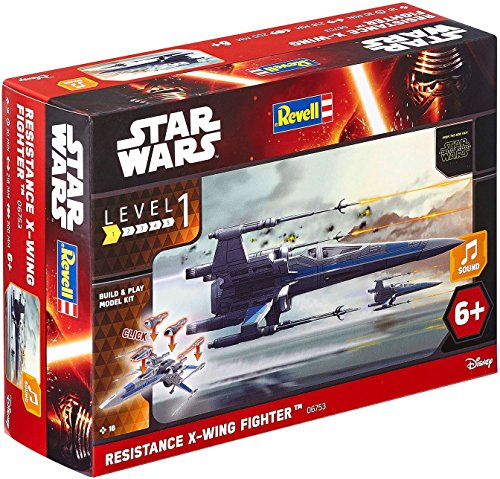 Revell Modellbausatz Star Wars Resistance X-wing Fighter im Maßstab 1:78, Level 1, originalgetreue Nachbildung mit vielen Details, Build & Play mit Light&Sound, zum Bauen & Spielen, 06753