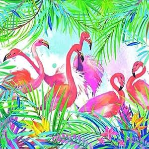 20tovaglioli 33X 33a forma di animale Fenicotteri Zoo Animal Park Africa sole Safari Rosso Uccello Animali acquatici