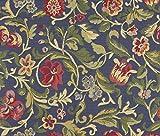 Möbelstoff Picasso 519 Blumenmuster Farbe Multicolor als