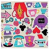 erdbeerparty - Party Dekoration Cutouts Alice im Wunderland Mad 30-teilig, Mehrfarbig