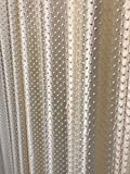 #6: Plain Pyramid Design Punching Door Curtains Set of 2 Curtains (Heavy Long Crush, Gold, Size: 4*9 Feet Each) by Ridhaan