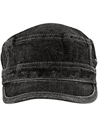 Krystle Men's Black Denim Cap