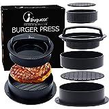 Bugucat Presse Burger,3 en 1 Presse à Burger Presse à Hamburger Kit de Moule à Hamburger antiadhésif Presse à Viande Burger &