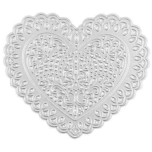 Stanzschablone, Herz, 10,2cm x 8,8cm, passend für gängige Stanzmaschinen   Schablone zum Gestalten von Geschenkanhängern, Grußkartenauflegern   Valentinstag, Muttertag, Geburtstag, Weihnachten
