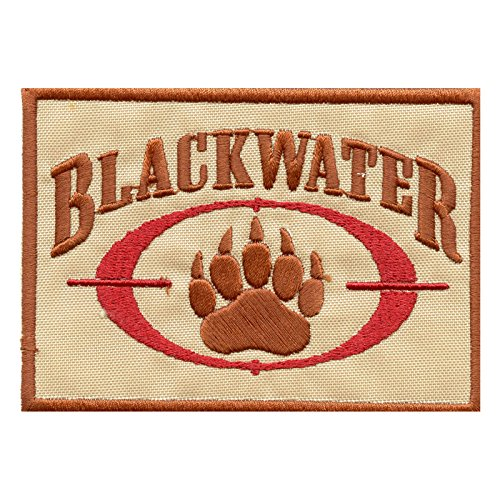 Desert AOR1 Blackwater Insignia Academi Embroidered Taktisch Tactical Combat Milspec Hook&Loop Aufnäher Patch -