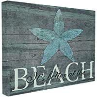 Stupell Industries The Home Decor Collection It's Better at The Beach Starfish Oversized Stretched Canvas Wall Art, 24 x 1.5 x 30, Proudly Made in USA, Fabric, Multi-Colour, 24 x 1.5 x 30 cm preiswert