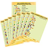 20 x Emoji Quiz cards (A5 Size) and Answer Sheet - ideal for unisex, boy or girl baby shower game - Great Fun , Mum To Be Baby Shower Idea- Eco Friendly Printing