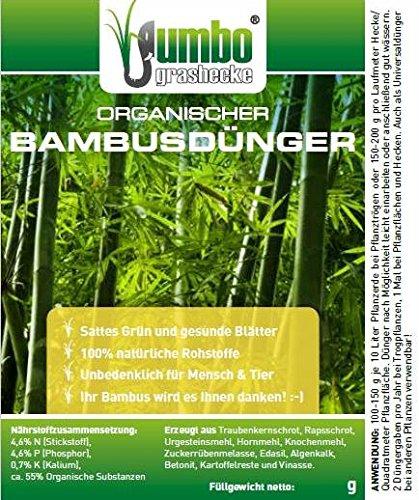 Jumbogras® Bambusdünger mit Langzeit-Wirkung, 100 {dce20e4ea97943d471750c79f9871f91761997f42cc095063a1caf4ed700645c} Organischer Ökodünger für alle Bambus-Arten und -Sorten, Ziergräser und Gräser-Pflanzungen (5 x 750 Gramm-Vorteilspackung)