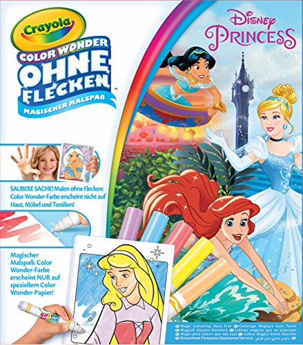 Crayola 12785.4100 Prinzessinen Color Wonder-Disney Princess Malbuch, Bunt